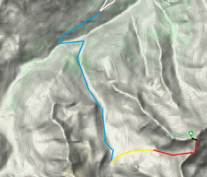 Several different parts of the route.