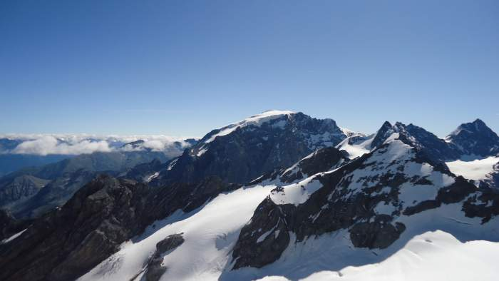 Ortler as seen from the summit of Punta degli Spiriti.