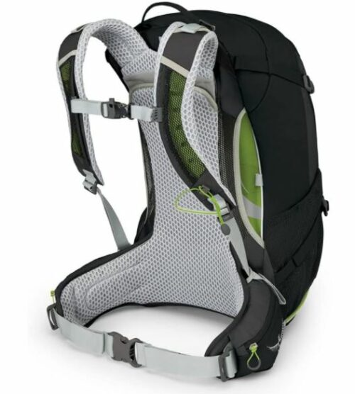 Osprey Stratos 24 pack with its ventilated suspension system.