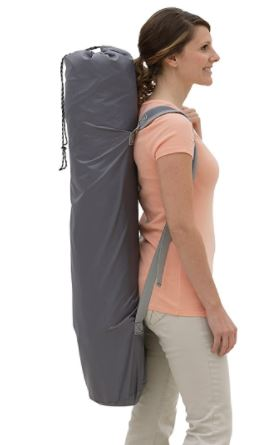 The carry bag is with shoulder straps.