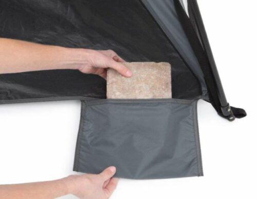 Integrated sandbags.