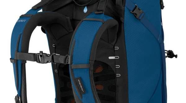 Adjustable both torso length and shoulder padding.