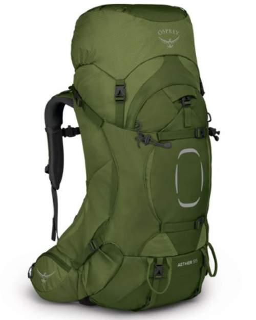 Osprey Aether 55 Pack for men - front view.