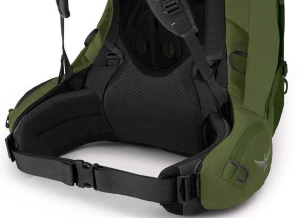 Adjustable hip belt fins.