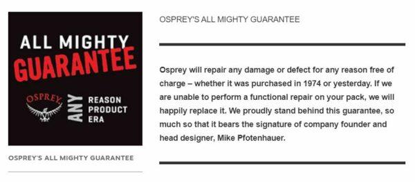 All Mighty guarantee.