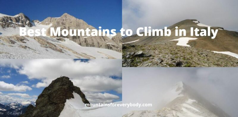 Best Mountains to Climb in Italy