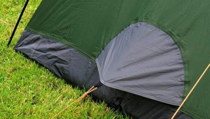 Floor vent on the Crua Duo Maxx 3 tent.