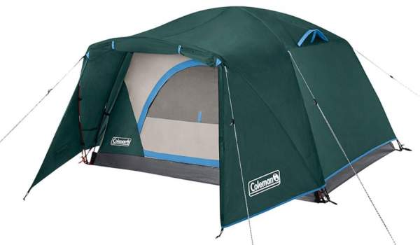 Coleman Camping Tent Skydome 2 Person with Full Fly & Vestibule.
