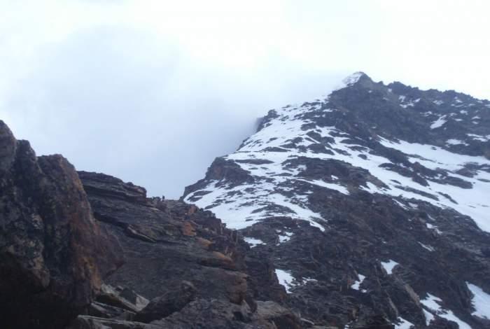 Lagginhorn - the final summit ridge.