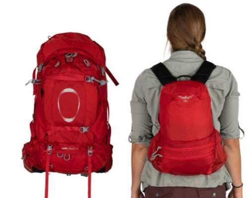 The main pack on the left with its FlapJacket in place, and the DayLid daypack on the right.