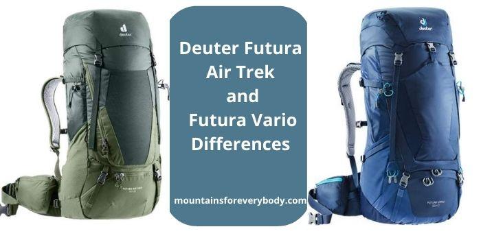 Deuter Futura Air Trek and Futura Vario Differences
