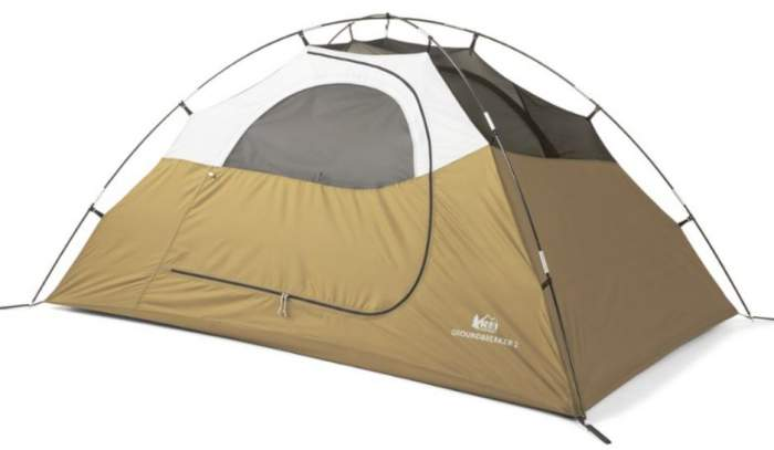 The tent without the fly - a simple dome structure.