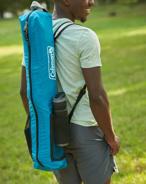 Backpack-style carry bag.