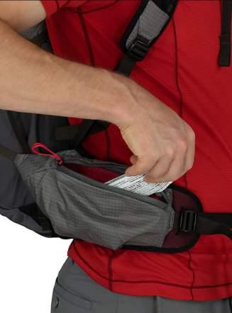 Two hip belt pockets.