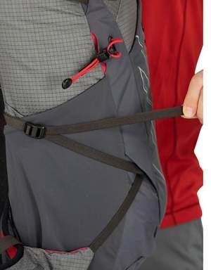Lower side compression straps.