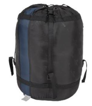 The stuff sack with compression straps.