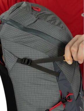 Upper side compression straps.