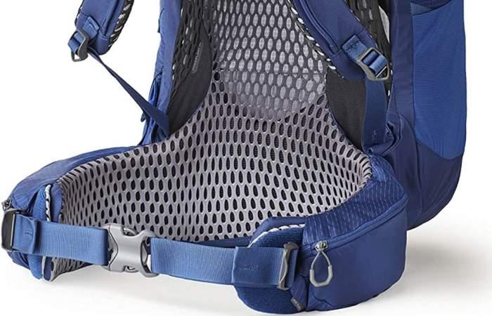 Hip belt padding and back panel mesh.